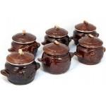 Набор керамических горшочков (6 штук)